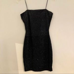 Windsor black and sparkly silver dress